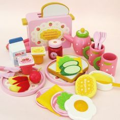 63.92$  Watch now - http://aliatr.worldwells.pw/go.php?t=32541188634 - Baby Toys   Strawberry Toast Bread Toaster Toys Wooden Pretend Play Kitchen Toys Gift 63.92$