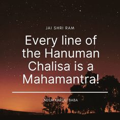 Every line of the Hanuman Chalisa is a MAHAMANTRA. #lordhanuman #hanuman #hanumanasana #shriram #bhagavadgita #vishnu #shiva #bajrangbali #jaibajrangbali #jaishrikrishna #hanumanchalisa #hanumanjayanti #hanumanji #hanumantemple #jaihanuman #hanumantattoo #hanumangarh #hanumanworld #hanumanfestival #hanumanmandir #siyaram #ayodhya #mahabharat #ramayan #sankatmochan #sankatmochanmahabalihanuman #hanumandada #hanumantra #jayhanuman #hanumanworldphuket Hanuman Chalisa Benefits, Neem Karoli Baba, Bhagavad Gita, Asana, Gods Love, Spirituality, Lord, Love Of God, Spiritual