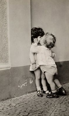 my first kiss went a little like this and twist and twist. :)
