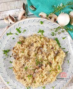 Mushroom Risotto   Foodeva Marsay Risotto Rice, Mushroom Risotto, Sauteed Mushrooms, Italian Rice Dishes, Ghee Butter, Vegetarian Options, Homemade Pasta