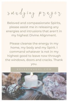 16 Simple Methods To Clear Your Energy Sage Cleansing Prayer, Spiritual Cleansing, Smudging Prayer, Sage Smudging, Wiccan Spell Book, Tarot Learning, Prayers For Healing, Smudge Sticks, New Energy