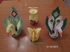 Le creazioni di Cristina: Pavoni origami 3d