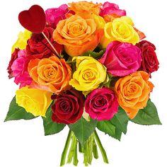 Cette brassée de magnifiques roses multicolores abrite en son sein un cœur écarlate propre à matérialiser vos sentiments les plus passionnés. Osez cette généreuse brassée de roses aux teintes choisies méticuleusement par Florajet. D'une qualité optimale, exclusivement sélectionnée pour vous, cette reine de beauté aux boutons débordant de fraîcheur se dévoilera doucement au fil des jours pour vous offrir, à son apogée, son éclatante plénitude. Un présent précieux à offrir sans hésitation.