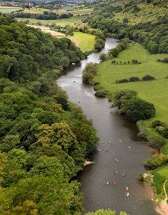 Canoeing on the River Wye. ive walked the wye valley