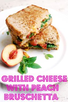 Grilled cheese is a quick meal standby, but eating it for dinner doesn't always feel like a proper meal. Dress it up with a little peach bruschetta so it feels like a meal you can be proud of.