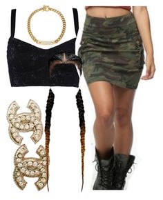"""""""."""" by trillest-queen ❤ liked on Polyvore featuring Dolce&Gabbana, Chanel and Michael Kors"""