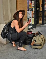 Personal Baggage (tacosnachosburritos) Tags: sanfrancisco california street city summer people urban woman hot streets sexy guy love girl hat fashion lady shopping photography cigarette gritty babe smoking chick hills trendy chic thelook 7x7