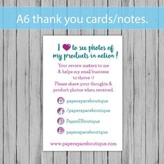 Business thank you cards template instant download naturally these a6 compliment cardsnotes are the perfect business thank you card to leave in with your customers they can be a great way to encourage reviews also cheaphphosting Image collections