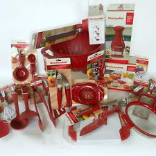 Kitchenaid Towel Sets | KITCHEN AID Red * 36PC * LOT UTENSILS SET Can  Opener Grater