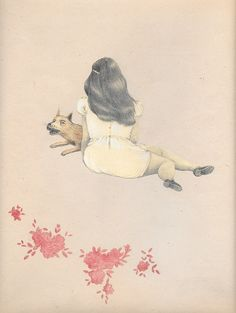 Fille avec le loup by Joanna Concejo - Toi Gallery Prints For Sale, Art For Sale, Art Gallery, Presents For Her, Children's Book Illustration, French Artists, Limited Edition Prints, Giclee Print, Fine Art Prints