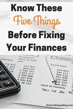 Between budgeting and saving money, there's a lot you need to know to fix your finances. Here are 5 simple things to help you out.