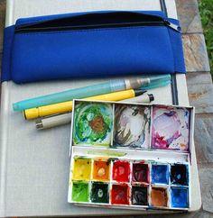 Elaine Magliacane Journal: Art Supplies - Sketch kits - What's in my bag