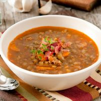 French Lentil Soup with Cremini Mushrooms, Sweet Potatoes and Thyme - Dr. Weil's Healthy Kitchen