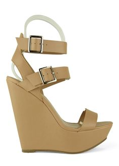 136afd0b12d Valery-11 Natural Strappy Platform Wedge by Breckelle s