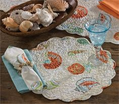 A getaway for the home, our Coral Bay Collection captures the beauty of the sea in a fashionable resort palette. By Park Designs. For a Park Designs retailer near you visit our website at www.parkdesigns.net #wholesale #home #decor #coastal #beach #coral #parkdesigns #park #designs