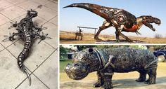 اعمال فنية رائعة من خردة المعادن - 50 صورة - كوكتيل