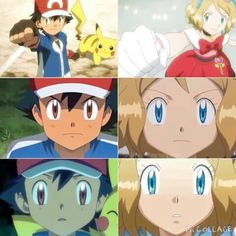 """Determinatism """"Never give up until it's """"Our New Hope, No matter how we're lose"""" Pokemon X And Y, Pokemon Ash And Serena, Ash Pokemon, Pokemon Ships, Cool Pokemon, Pokemon Fan, Cute Anime Chibi, Anime Love, Star Wars Origami"""