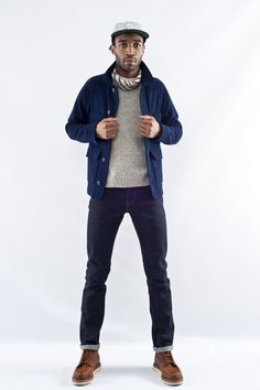 Apolis Wool Chore Jacket  via Glasswing