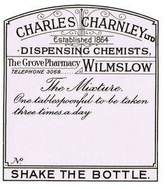 Knick of Time: Printable Antique Pharmacy Labels