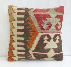 Rustic Decor Bohemian Kilim Pillow Case by PillowTalkOnEtsy, $48.00