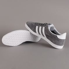 Adidas Gazelle Grey On Feet