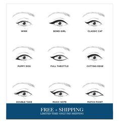7 in 1 Cat Eyeliner & Smokey Eyeshadow Stencil – About Eye Makeup Makeup Inspo, Makeup Inspiration, Makeup Tips, Beauty Makeup, Makeup Ideas, Makeup Tutorials, Sombra Smokey, Eyeliner Techniques, Winged Eyeliner Tutorial