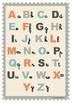 alphabet poster   kid's room