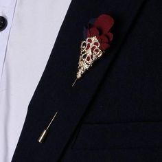 Handmade Flower Boutonniere Lapel Pin