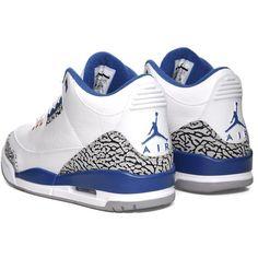 874248167444 Nike Air Jordan III Retro - True Blue ( 170) ❤ liked on Polyvore