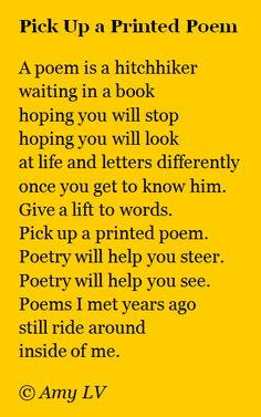 Keep a poem in your pocket!