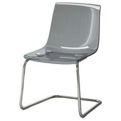 IKEA - TOBIAS, Silla, gris/cromado, , Gracias a la flexibilidad del asiento y el respaldo, resulta muy cómoda.