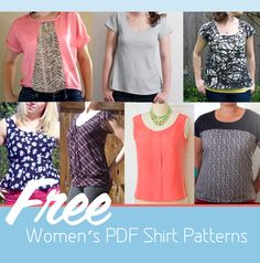 9 Free Women's PDF Shirt Patterns!