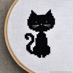 Black Cat Cross-stitch
