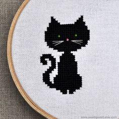 Black Cat Cross-stitch