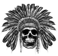 Indian Headress Tattoo. I've always loved native tattoos! Maybe throw some pink and white accents??