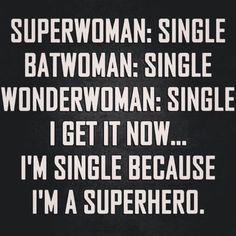 Single superhero