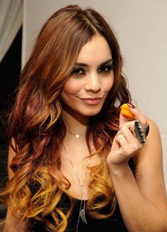 Vanessa Hudgens Latest Ombre Hair with Curls