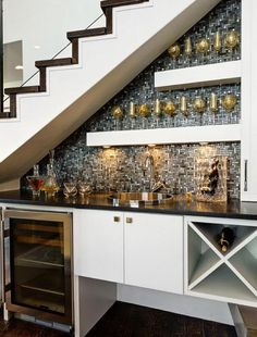 Stair Design With Mini Bar With Faucet And Sink : Under Stair Design With  Mini Bar. Bar Under Stairs Ideas,built Bar Under Stairs,house Stairs Design,mini  ...