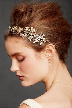 Botanical Garland Headband in SHOP The Bride Veils & Headpieces Headbands at BHLDN