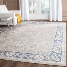 Safavieh Patina Yolonda Power-Looked Area Rug, Taupe/Blue, Beige