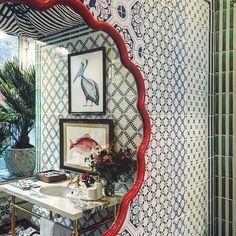 Party time. #london #interior #tiles #illustrations #balineum #interiordesign #flowers #bloomsbury #bathroom #vsco @sarah_balineum Bloomsbury, Home Renovation, Party Time, Tiles, Home And Garden, London, Interior Design, House Styles, Mirrors