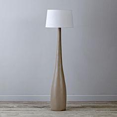 Kids Floor Lamps: Kids White Nickel Floor Lamp Base with Green ...