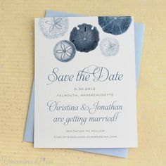 5 Nautical Save the Dates for a Vintage Modern Beach Wedding
