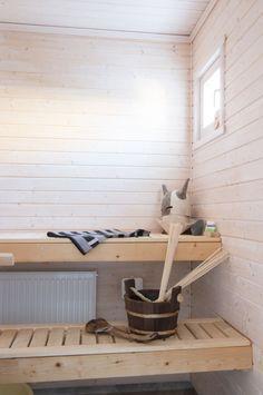 Talomalli Älvsbytalo Tuulikki 1,5-kerroksinen, 4 huonetta, keittiö ja sauna Huoneistoala: 101,5 m² Kerrosala: 112,5 m² Esivalmisteltu yläkerta: 47 m² Spa, Home, Ad Home, Homes, Haus, Houses
