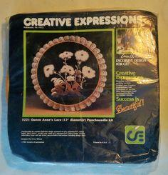 Vintage Creative Expressions Punchneedle Kit  Erica Wilson