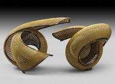 Dual bamboo sculpture