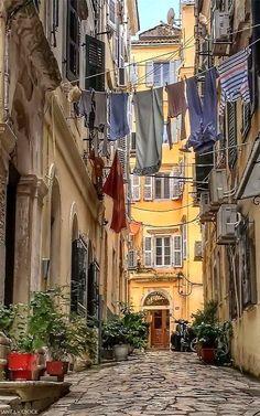 Kerkyra old town, Corfu Island, Greece   by santaoclock