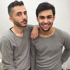 Ghassan and Will from our Columbus Circle store in matching Herringbone Pullovers.