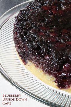Blueberry Upside-Down Cake, Canada Blueberry Upside Down Cake, Tasty Bites, Fruit In Season, Cake Boss, Strudel, Cobbler, Let Them Eat Cake, Crisp, Cake Recipes