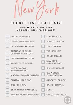 Check off your bucket list. Join the thousands of people who are saving on average on hot spots like New York. Check off your bucket list. Join the thousands of people who are saving on average on hot spots like New York. Travel Checklist, Travel List, Travel Goals, Travel Packing, Travel Bucket Lists, Usa Travel, Beach Travel, Travel Itinerary Template, Spain Travel